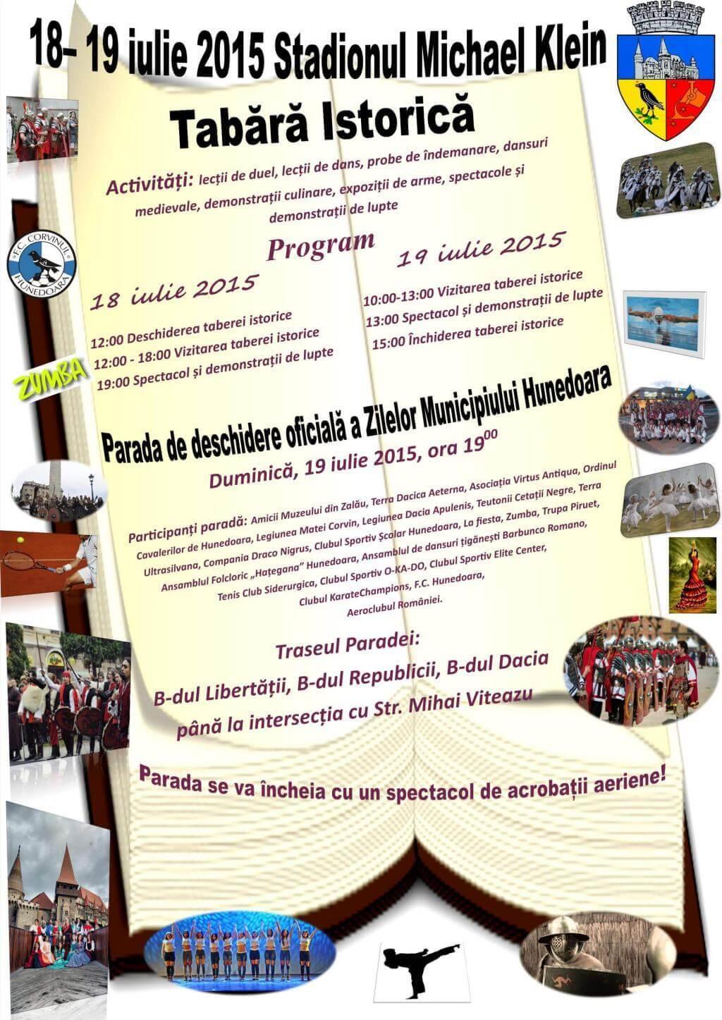 program-parada- zilele municipiului Hunedoara 2015
